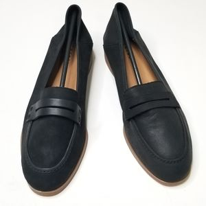 Lucky Brand Shoes - Lucky Brand Caylon Black Penny Leather Loafer NEW